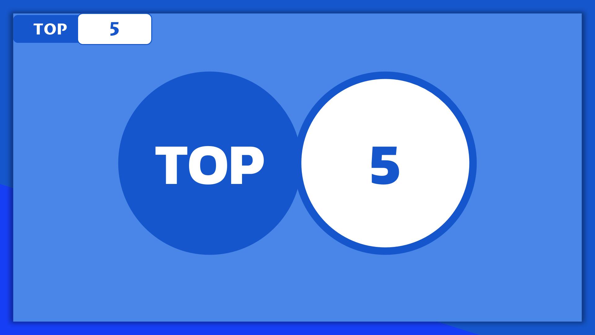 Le Top 5 du Top